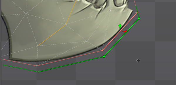 Outline Move Vertices Outwards