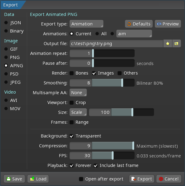 Export - Spine User Guide