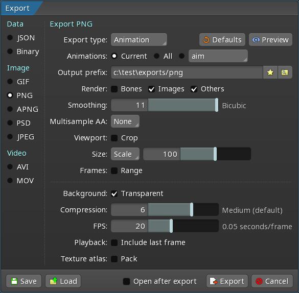 Export - Spine User Guide